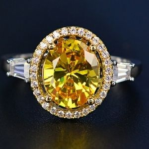 Jewelry - Canary yellow dinner ring